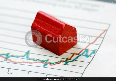 Positive Housing Market stock photo, A positive housing market concept and graph by Tyler Olson