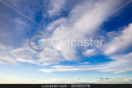Soft Clouds stock photo, A soft fluffly cloud background with blue sky by Tyler Olson