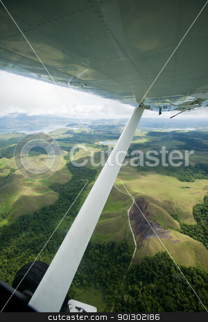Indonesian Mountains stock photo, Indonesia mountains and lake in the distance by Tyler Olson