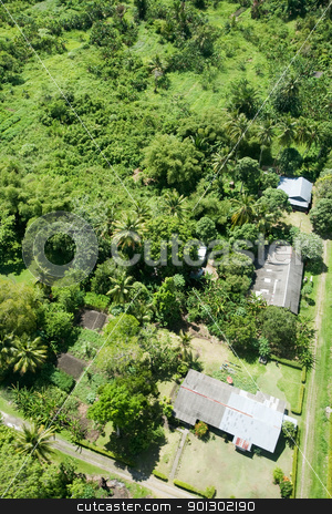 Aerial of Tropical Urban Area stock photo, An aerial photo of an urban area in the tropics by Tyler Olson