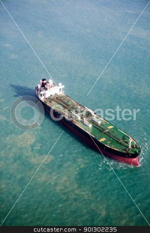 Ocean Tanker stock photo, An ocean tanker on the open sea by Tyler Olson
