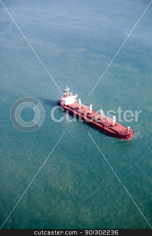 Ocean Liner stock photo, An ocean liner on the open sea by Tyler Olson