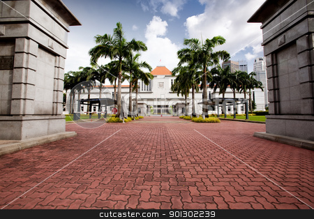 Singapore Parliament stock photo, The singapore parliament building main gate by Tyler Olson