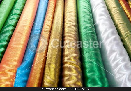 Shiny Cloth stock photo, A background abstract of shiny cloth by Tyler Olson