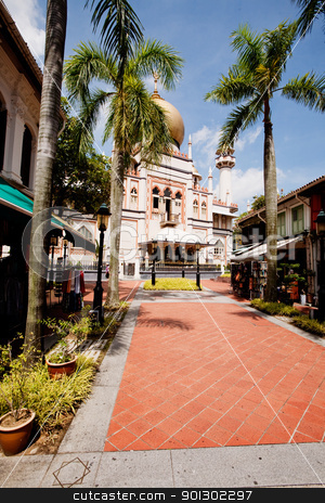 Sultan Mosque stock photo, Masjid Sultan located in Singaopre - Sultan Mosque by Tyler Olson