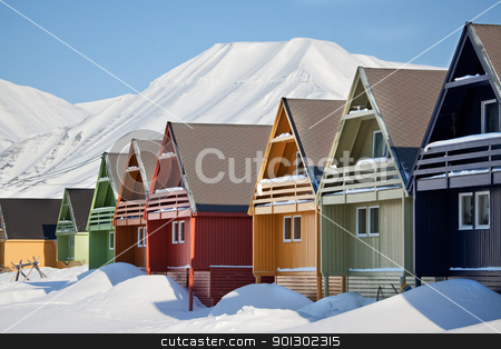 Longyearbyen stock photo, Longyearbyen, Norway, the worlds northern most city. by Tyler Olson
