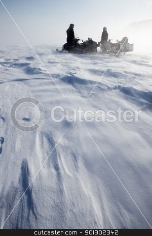 Winter Storm stock photo, A wild winter storm in a barren mountain landscape by Tyler Olson