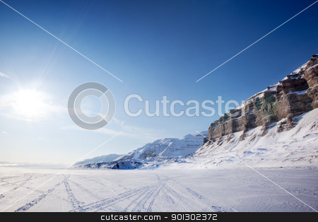 Winter Landscape stock photo, Lanscape on the Island of Spitsbergen, Svalbard, Norway by Tyler Olson
