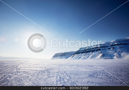 Svalbard Landscape stock photo, A panorama landscape on Spitsbergen Island, Svalbard, Norway by Tyler Olson