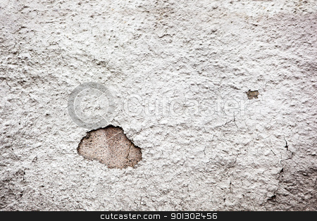 Weathered Plaster Texture stock photo, A weathered painted plaster wall that was once white by Tyler Olson