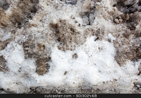 Dirty Snow Background stock photo, A background texture of dirty snow by Tyler Olson