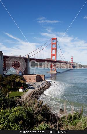 Golden Gate Bridge stock photo, Golden gate bridge on a sunny afternoon by Tyler Olson