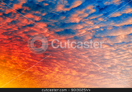 Cloud Sunset Background stock photo, A cloud sunset background, blue and pink by Tyler Olson