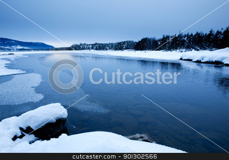 Winter Scene stock photo,  by Tyler Olson