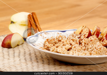 Apple Cinnamon Porridge stock photo, Apple Cinnamon Porridge by Tyler Olson