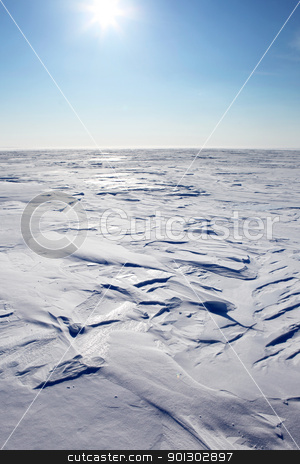 Barren Winter Landscape stock photo, A barren winter landscape of snow and ice,  by Tyler Olson