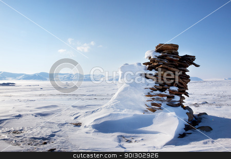 Beautiful Winter Landscape stock photo, A beautiful winter moutain snow landscape taken on Spitsbergen Island, Svalbard, Norway by Tyler Olson