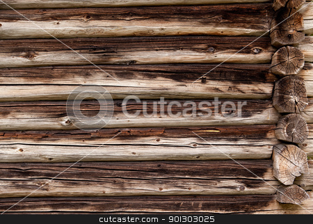 Log Cabin Background stock photo, A background texture of a log cabin wall by Tyler Olson