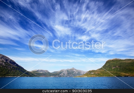Norway Coast stock photo, A beautiful coastal landscape of northern; Norway by Tyler Olson