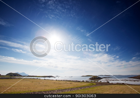 Norway Landscape stock photo, A coastal landscape in northern Norway by Tyler Olson