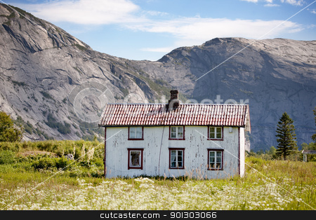 Old House Norway stock photo, An old abandoned house in rural Norway by Tyler Olson