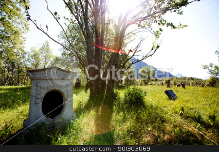Old Graveyard stock photo, An old graveyard in northern Norway by Tyler Olson