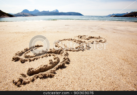 S.O.S. stock photo, An S.O.S. message in the sand on an island by Tyler Olson