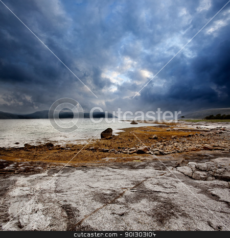 Norway Landscape stock photo, A dramatic ocean coast landscape in Northern Norway by Tyler Olson