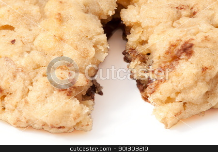 Cookie Detail stock photo, An isolated chocolate chip cookie by Tyler Olson