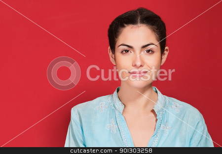 Close-up of woman smiling stock photo, Close-up portrait of a young woman smiling by Tyler Olson
