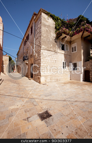 Old Stone City stock photo, An old area of town, Rab, Croatia by Tyler Olson