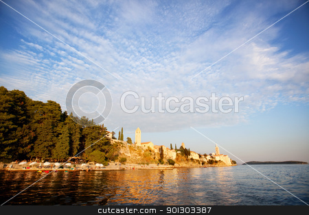 Croatia Coast Beach stock photo, A beach area on the coast of Rab, Croatia  by Tyler Olson
