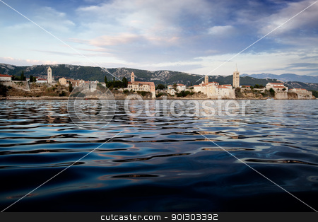 Rab Croatia Panorama stock photo, A panoramic view of the island of Rab, Croatia by Tyler Olson