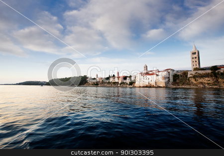 Fortified Town stock photo, A fortified town - the coast of Rab, Croatia by Tyler Olson