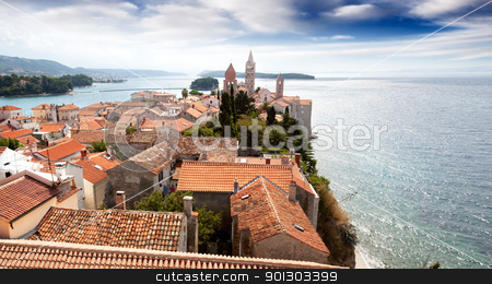 Old Fortified Town stock photo, An old fortified town in South Eastern Europe - Rab, Croatia by Tyler Olson