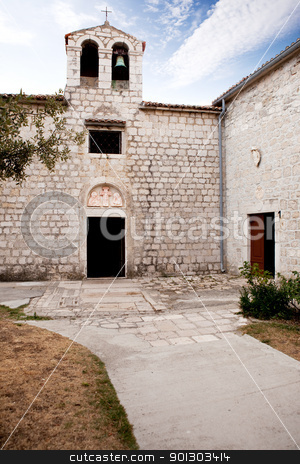 Medieval Church stock photo, An old stone church in Rab Croatia by Tyler Olson