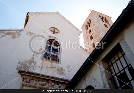 Medieval Church stock photo, A medieval church abstract in Rab, Croatia by Tyler Olson