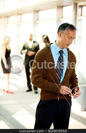 Candid Business man stock photo, A candid portrait of a business man dressed semi-casual by Tyler Olson