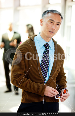 Candid Business Portrait stock photo, An candid image of a business man by Tyler Olson