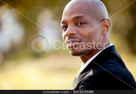 Business Man Portrait stock photo, A portrait of an African American business man by Tyler Olson