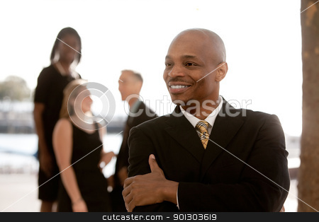 Business Man stock photo, A happy African American business man by Tyler Olson
