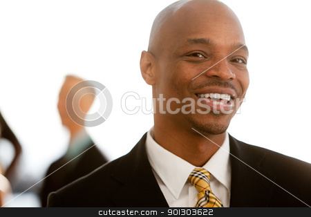 African American Business Portrait stock photo, An african american business man   by Tyler Olson