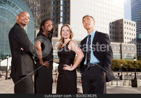 Business Team Look Up stock photo, A business team looking up into the future by Tyler Olson