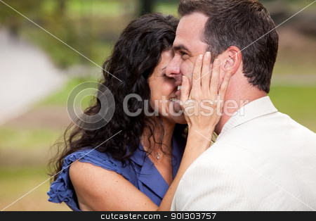 Couple Love stock photo, A couple in the park - having fun and relaxing by Tyler Olson