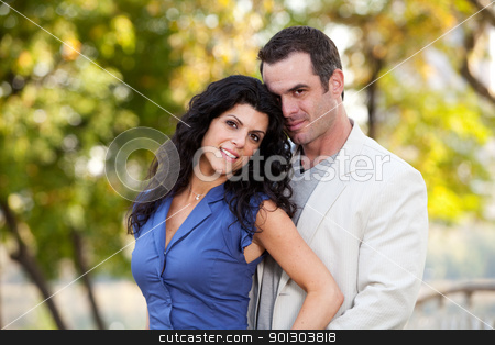 Love Couple Portrait stock photo, A couple portrait - in love in the park by Tyler Olson