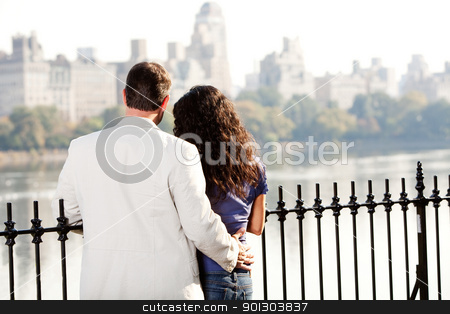 Couple Date stock photo, A couple on a date in a city park by Tyler Olson