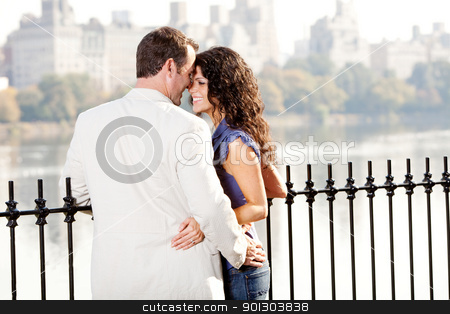 Couple Love stock photo, A couple on a date in a city park by Tyler Olson