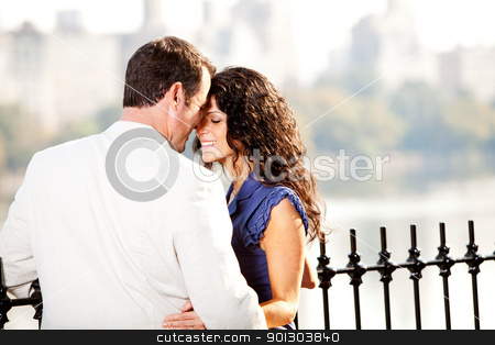 Couple Love stock photo, A man and woman in a park hugging by Tyler Olson