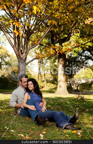 Couple Relax Park stock photo, A couple relaxing in the park - spending time together by Tyler Olson