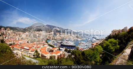 Monte Carlo Panorama stock photo, A very large panorama of Monaco, Monte Carlo. by Tyler Olson